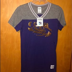 NWT VS Pink Bling Tee S